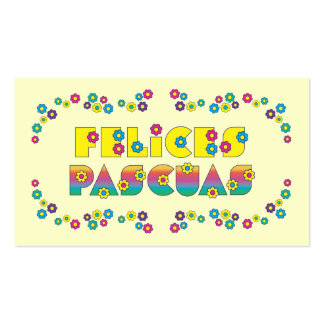 Felices Pascuas Business Card Template