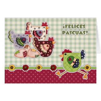 Felices Pascuas. Customizable Spanish Easter Cards