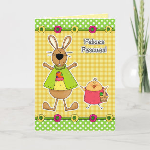 Easter greetings in spanish gifts on zazzle customizable spanish easter cards m4hsunfo