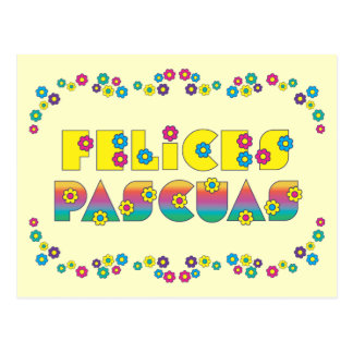Felices Pascuas Postcard
