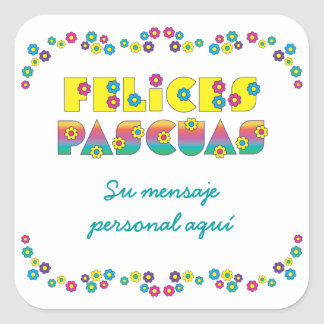 Felices Pascuas Square Sticker