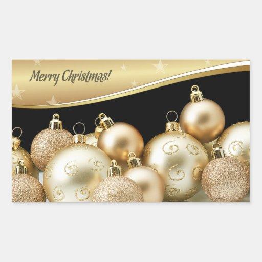 Felices pegatinas del regalo de pegatina rectangular