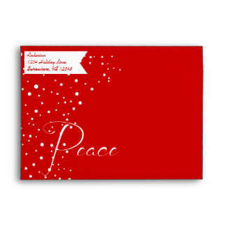 Felices pequeños Navidad de la paz roja y blanca Sobres