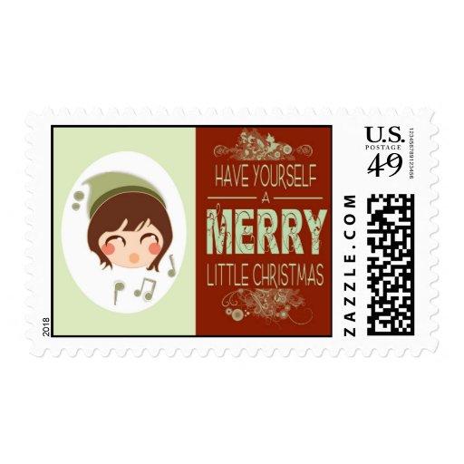 Felices pequeños Navidad - sello