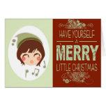 Felices pequeños Navidad Tarjetón