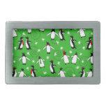 Felices pingüinos hebilla cinturón