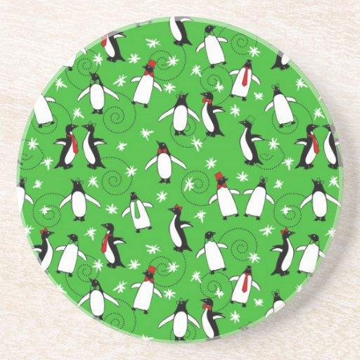 Felices pingüinos posavasos manualidades