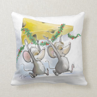 Felices ratones Mic y almohada del mac