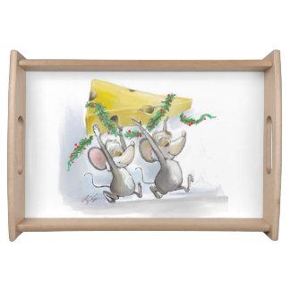 Felices ratones Mic y bandeja de la porción del ma