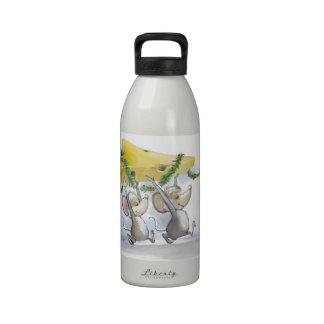 Felices ratones Mic y botella de la libertad del d Botellas De Agua Reutilizables