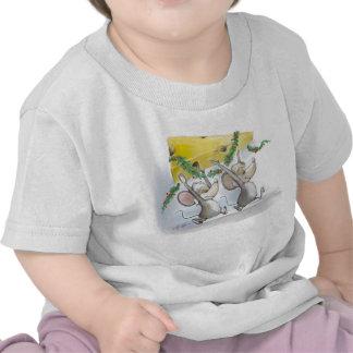 Felices ratones Mic y camiseta del niño del mac