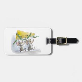 Felices ratones Mic y etiqueta del equipaje del Etiqueta De Equipaje