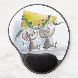 Felices ratones Mic y gel Mousepad del mac Alfombrilla De Raton Con Gel