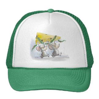 Felices ratones Mic y gorra del día de fiesta del