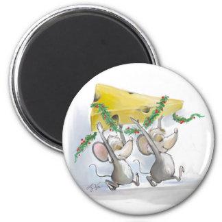 Felices ratones Mic y imán del mac
