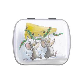 Felices ratones Mic y lata del caramelo del día de Frascos De Caramelos