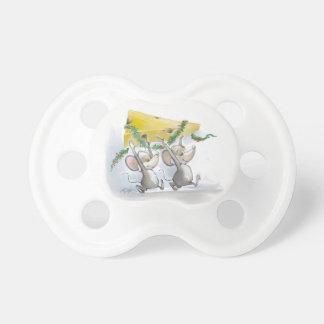 Felices ratones Mic y pacificador del día de fiest Chupetes De Bebe