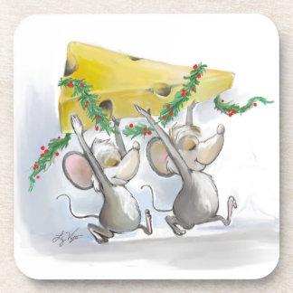 Felices ratones Mic y práctico de costa del corcho Posavasos
