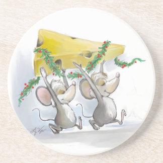 Felices ratones Mic y práctico de costa del mac Posavasos Diseño