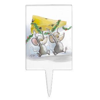 Felices ratones Mic y primero de la torta del mac Figura Para Tarta