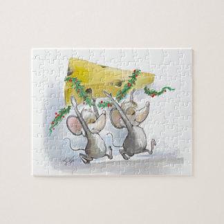 Felices ratones Mic y rompecabezas del día de fies