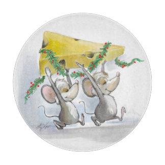 Felices ratones Mic y tabla de cortar del mac