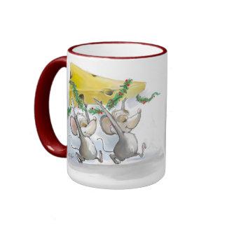 Felices ratones Mic y taza del mac