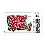 Felices sellos de la pintada de Navidad