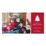 Felices tarjetas de la foto del árbol de navidad ( tarjetas fotograficas personalizadas
