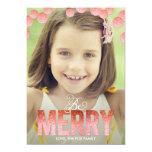 Felices tarjetas de la foto del día de fiesta del anuncios personalizados