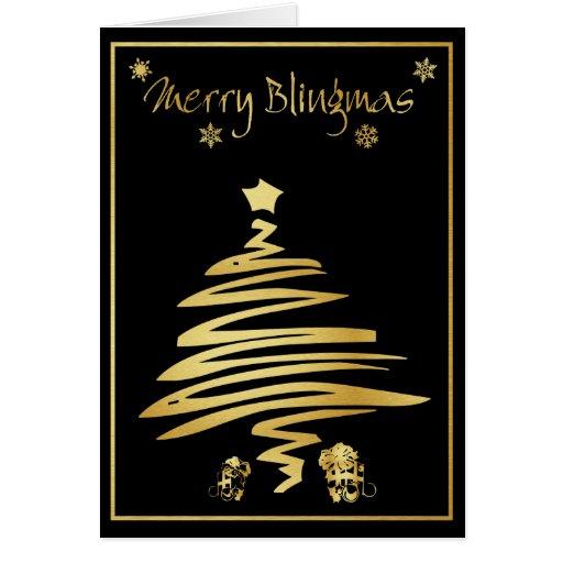 Felices tarjetas de Navidad de Blingmas - de Bling