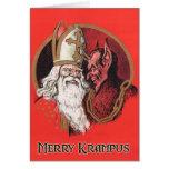 Felices tarjetas de Navidad de Krampus