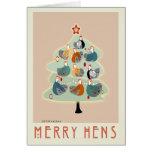 Felices tarjetas felices del árbol de navidad de l