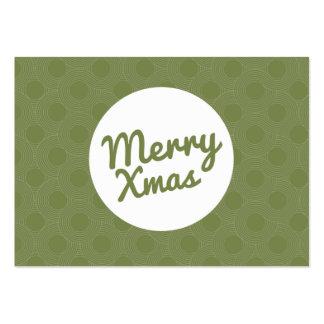 Felices tarjetas verdes del vale de Navidad Tarjetas De Visita Grandes