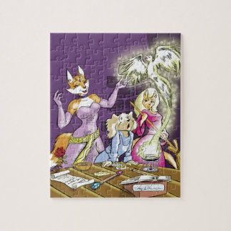 Felicia And The Sorceress' Apprentice Jigsaw Puzzle
