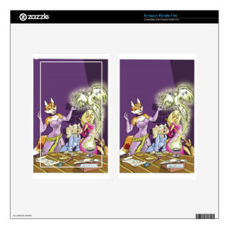 Felicia And The Sorceress' Apprentice Kindle Fire Skins