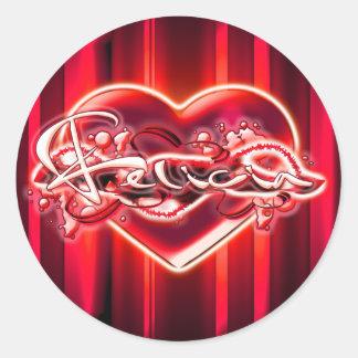 Felicia Classic Round Sticker