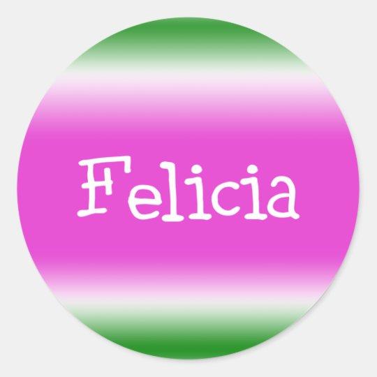 Felicia Pegatina Redonda