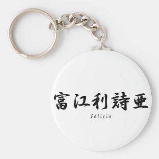Felicia tradujo a símbolos japoneses del kanji llaveros