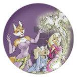Felicia y el aprendiz de las brujas plato