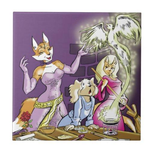 Felicia y el aprendiz de las brujas teja  ceramica