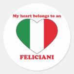 Feliciani Pegatinas Redondas