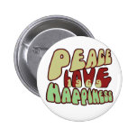 Felicidad 1969 del amor de la paz pins