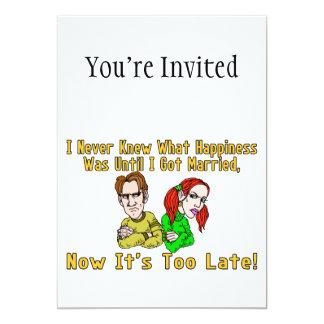 """Felicidad arruinada boda invitación 5"""" x 7"""""""