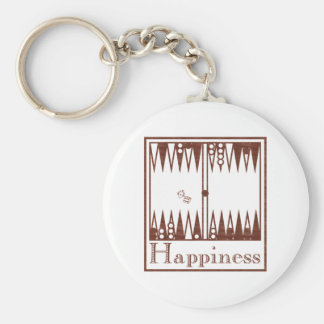Felicidad Backgammon Llavero