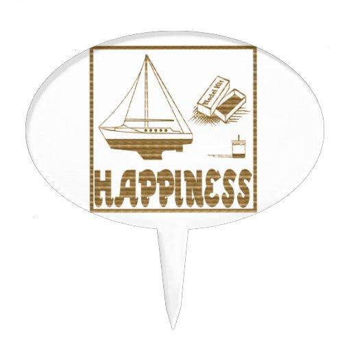 Felicidad: Barco modelo Figura Para Tarta