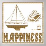 Felicidad: Barco modelo Posters