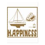 Felicidad: Barco modelo Tarjeta Postal