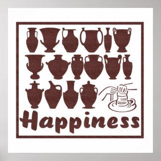 Felicidad: Cerámica Impresiones