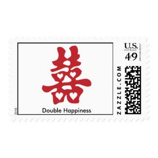 felicidad china, vietnamita, doble sello